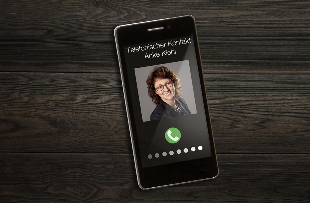 Telefonischer Kontakt Anke Kiehl